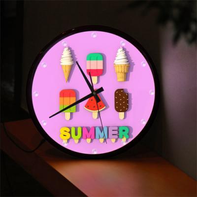 nf280-LED시계액자35R_달콤한아이스크림