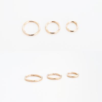 queue 로즈골드 링 피어싱 귀걸이 (3size)