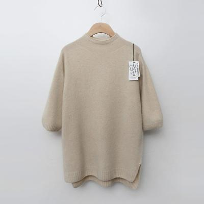 Maille Raccoon Wool Half Turtle Sweater - 7부소매