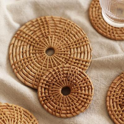 슬림 라탄 코스터 컵받침 티코스타 코스타 (13cm)