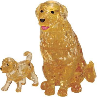 42피스 크리스탈퍼즐 - 골든 리트리버와 강아지