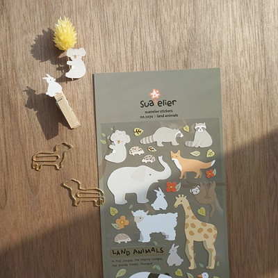 JR 스티커 1072-land animals