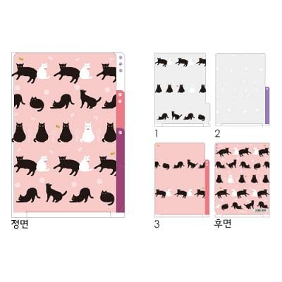 3포켓 클리어 폴더(A4) - CAT