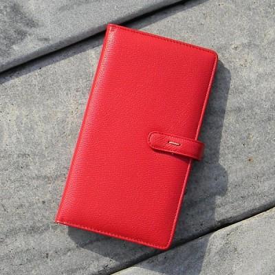 [inoworks] 수첩 커버식 천연가죽 바인더-이노웍스 플래너 아마빌레 Red-포켓 PAK-7004