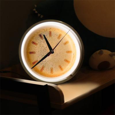 nf129-LED시계액자25R_향긋한커피거품
