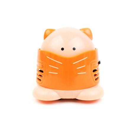 고양이 미니 청소기 - 오렌지