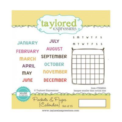 스탬프 - Pockets & Pages-Calendar