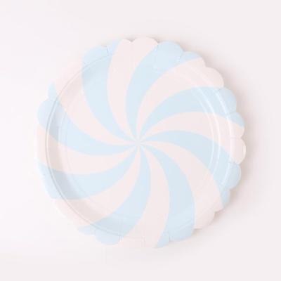 롤리팝 파티접시 18cm - 라이트블루(6입)