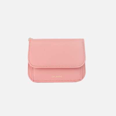 Dijon N301R Round Card Wallet apricot blush 디종 월렛 애프리콧블러쉬