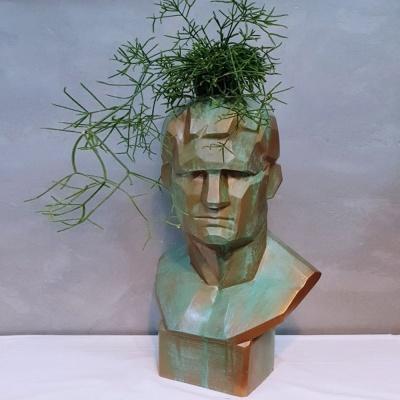 부식 대형 석고상 화분 모음 65cm내외 리본 꽃병 개업