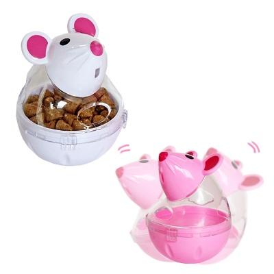 우쭈쭈 쉐이크 고양이 장난감 마우스 스낵볼 (화이트)