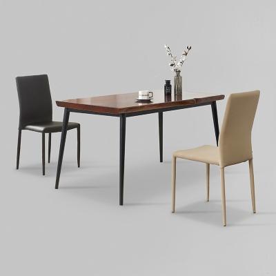 가벤 원목 철제 식탁 세트A 1400 + 의자 2개포함 (착