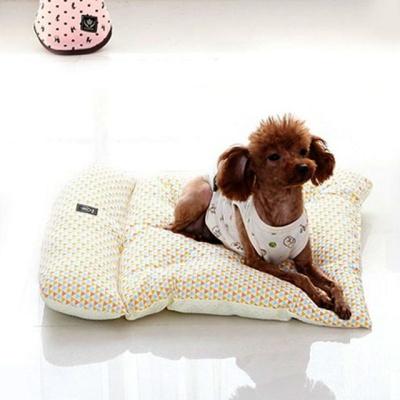 강아지 댕댕이 펫쿠션 펫방석 베드 필로우 노랑 소