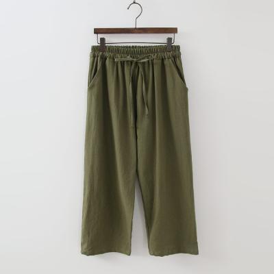 Linen Cotton Baggy Pants