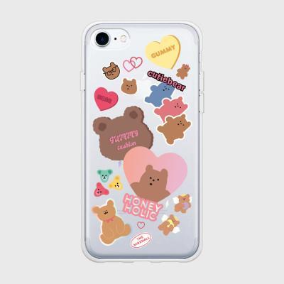 bear sticker pack 젤리케이스