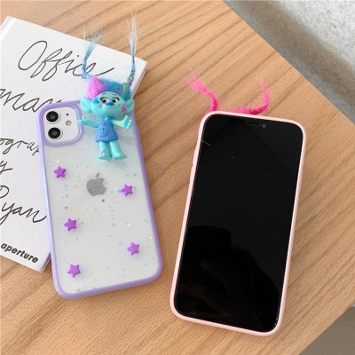아이폰 11 PRO MAX 인형놀이 투명 별 휴대폰 케이스