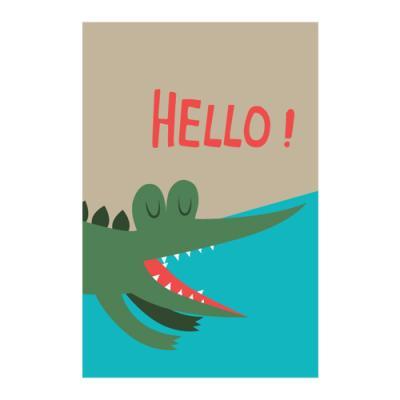 왈가닥스 비프렌드 포스트카드 엽서 - alligator