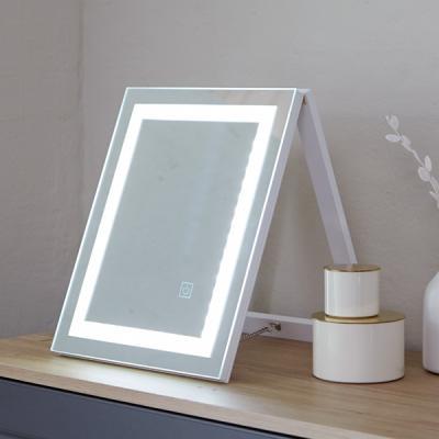[베스트리빙]탁상용 라인 LED거울(TM-2-W)