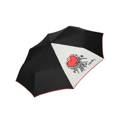 키스해링 하트 3단 완전자동우산
