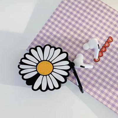 에어팟프로 케이스 3세대 입체 국화꽃 실리콘 고리SET