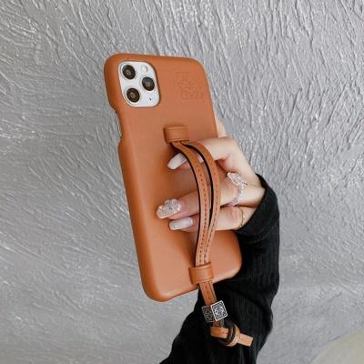 아이폰12 11 pro max xs 8 레터링 가죽 스트랩 케이스