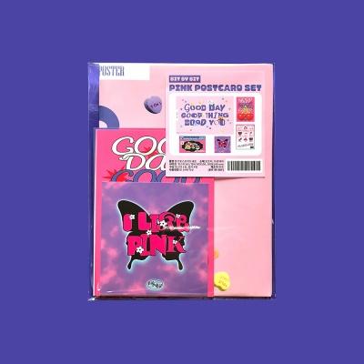 핑크 엽서세트