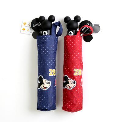 [더로라]미키마우스 3단자동우산 - 미키 패치 우산 e701
