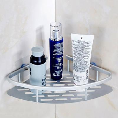 (와인앤쿡)알루미늄 1단 욕실 코너선반 1개