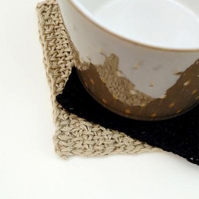 [멜로우] 니팅키트 : 사각 컵받침