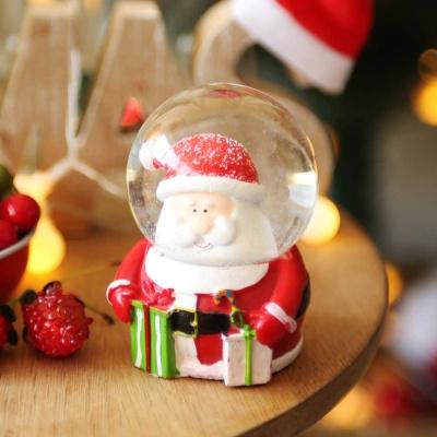 크리스마스 인형 워터볼 스노우볼 6.5cm (산타)