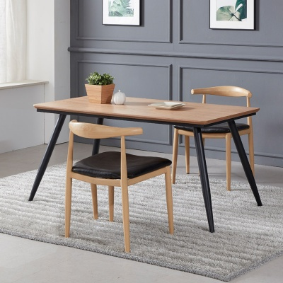 토바 무늬목 식탁 세트B 1400 + 의자 2개포함