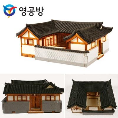 목재모형 HO 서울 북촌한옥A YM613 조립완구 건물