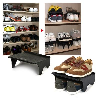 신발정리대 검정 더블형