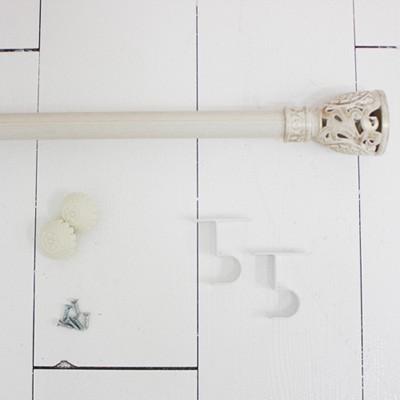 화이트 커튼봉-지름 2.5cm