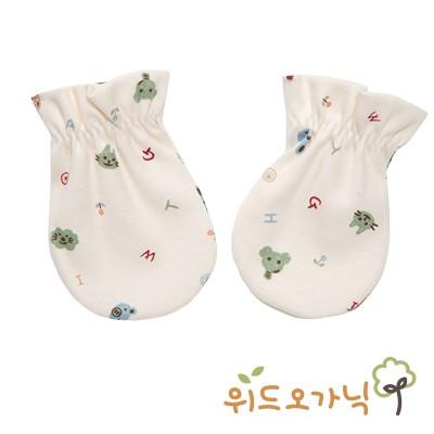 [위드오가닉] 오가닉신생아손싸개 동물얼굴