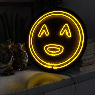ne681-LED액자45R_네온효과귀여운스마일얼굴
