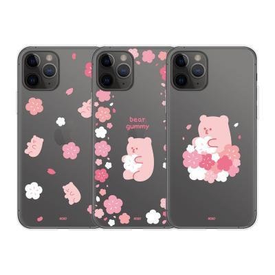 9C9C 베어구미 벚꽃 클리어케이스_LG시리즈