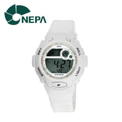 네파 여성용 아웃도어 디지털 시계 N318-WHITE 화이트