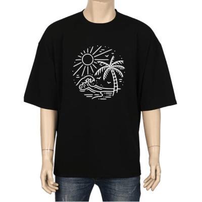 남성 여성 여름 데일리 반팔 티셔츠 썸머 샤인