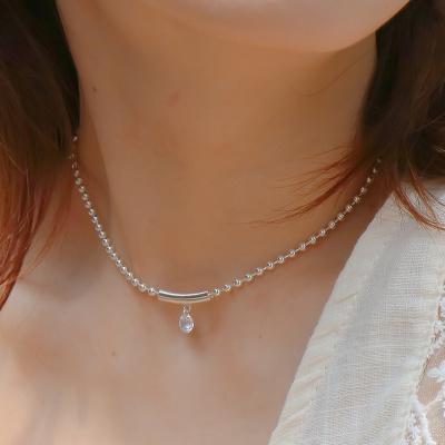 [Uni.J] i_n46 round crystal choker necklace