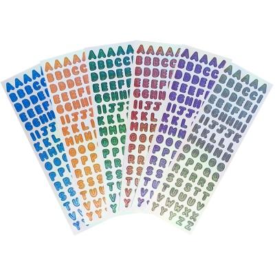 스티커마켓 오로라홀로그램 스티커 (M알파벳 6종)