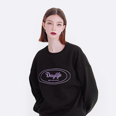 데이라이프 로고 스웨트 셔츠 (블랙)
