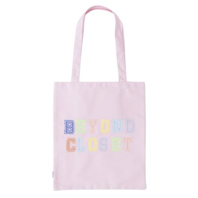 [비욘드클로젯X매니퀸] NEW BC PREPPY LOGO ECO BAG PINK