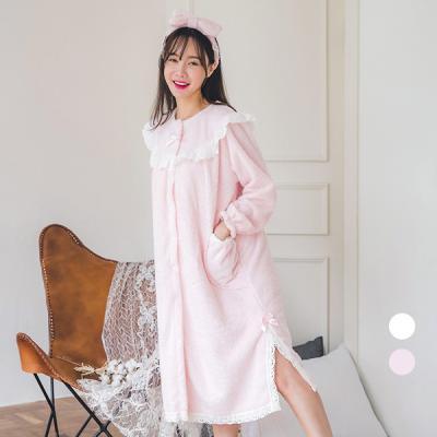 [쿠비카]극세사 반짝반짝 은사 원피스 여성잠옷 W252