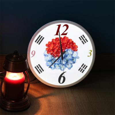 ng111-LED시계액자35R_꽃보다아름다운태극기