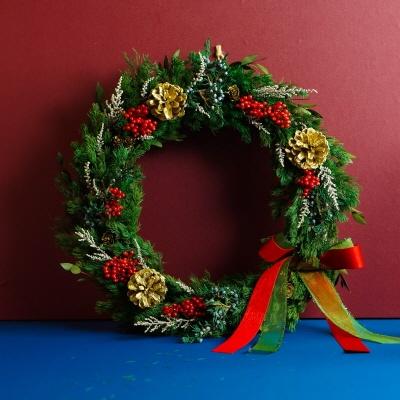 디 오리지널  /  프리저브드플라워 크리스마스 리스