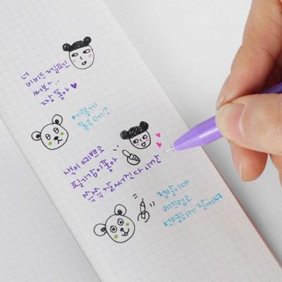 비비드젤펜 5본 세트 (젤펜 + 휴대용케이스 + 노트)