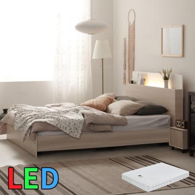 모델하우스 LED조명 침대 퀸(스프링매트) KC141