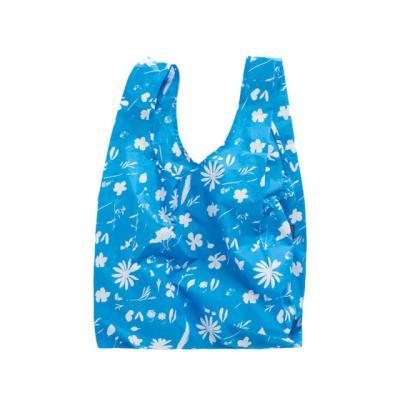 [바쿠백] 장바구니 시장가방 Floral Sun Print Blue