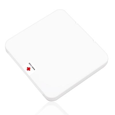휴대용 사각 마스크 위생보관 수납 케이스 항균패치